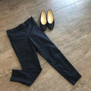 NAVY high waisted pinstripe cropped pants